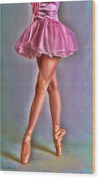 Dancer's Legs Wood Print