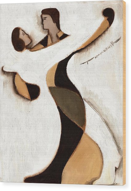 Tommervik Abstract Dancers  Art Print Wood Print