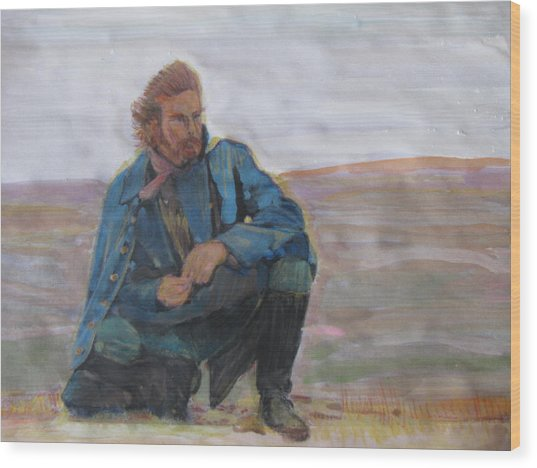 Dances With Wolves Wood Print