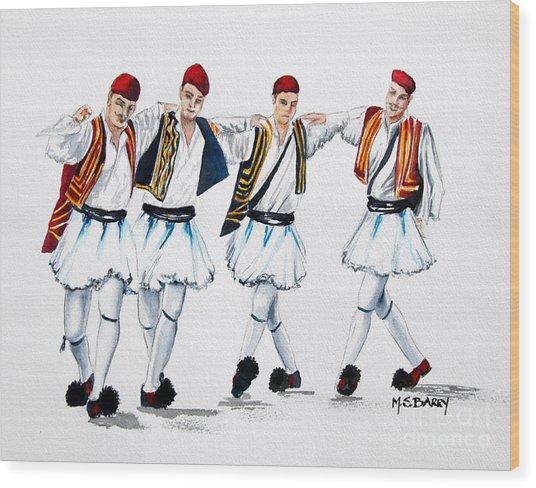 Dancing Evzones Wood Print