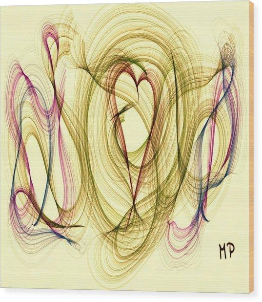 Dancing Heart Wood Print
