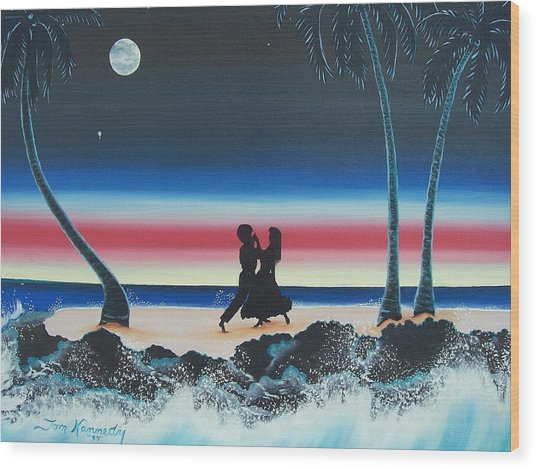 Dancing In The Dark Wood Print