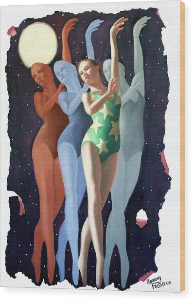 Dancing In The Moonlight Wood Print