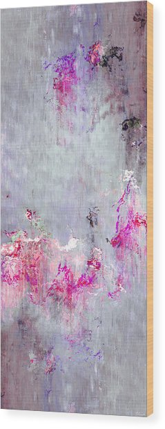 Wood Print featuring the mixed media Dancing In The Rain - Abstract Art by Jaison Cianelli