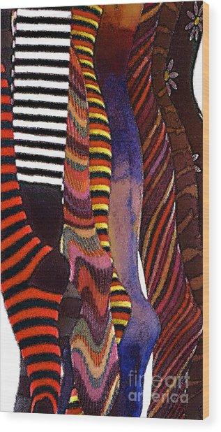 Dancing Legs Wood Print by Linda  Parker