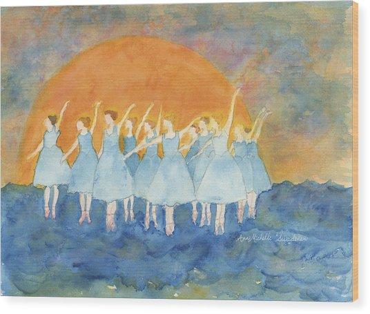 Dancing On Top Of The Sea Wood Print
