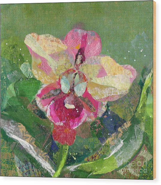 Dancing Orchid I Wood Print