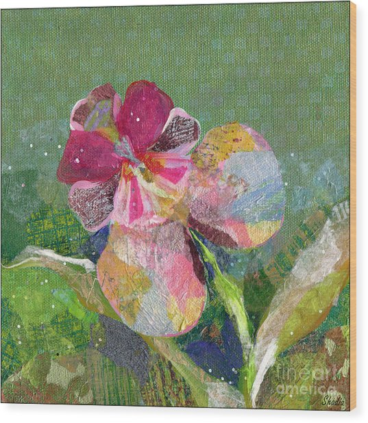 Dancing Orchid IIi Wood Print