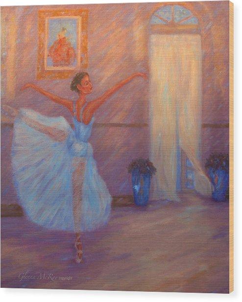 Dancing To The Light Wood Print