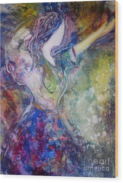 Dancing With The Lord Wood Print