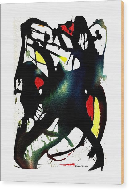 Dancing With The Shadow Wood Print