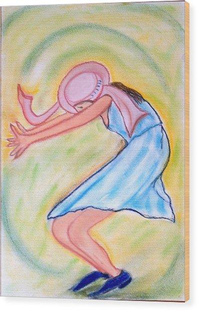 Dancy Nancy Wood Print