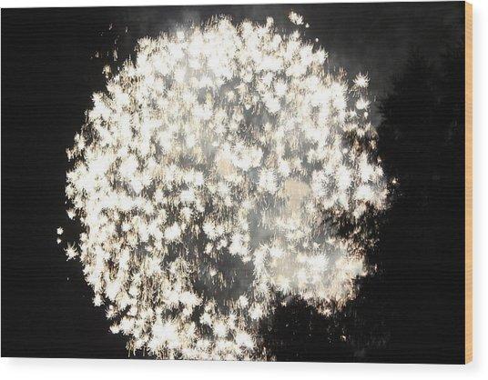 Dandelion Ablaze Wood Print