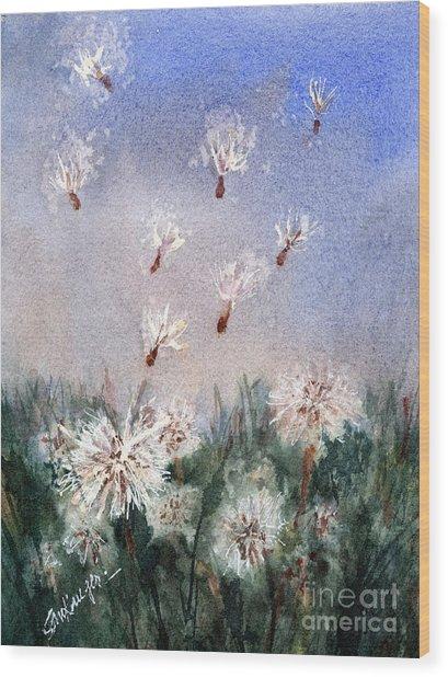 Dandelioniii Wood Print