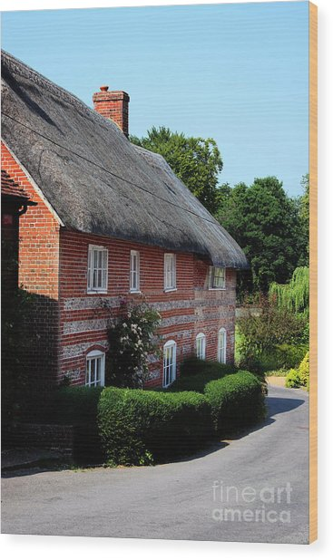 Dane Cottage Nether Wallop Wood Print