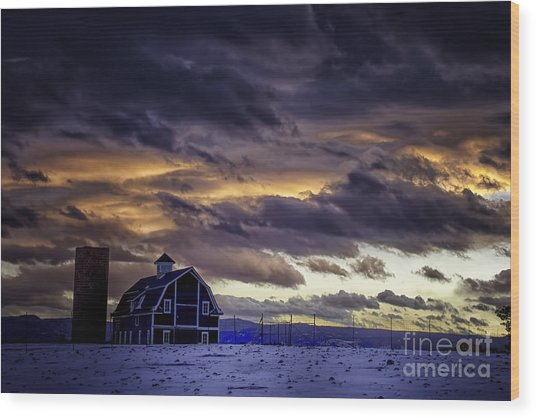 Daniel's Foreboding Sunset Wood Print