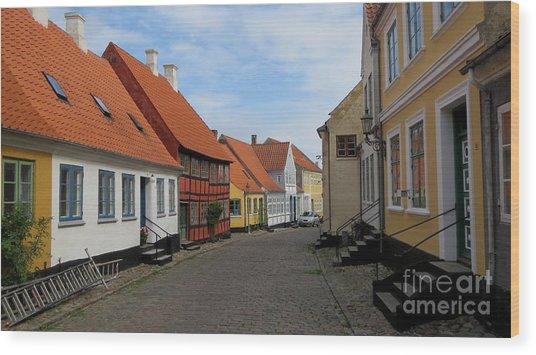 Danish Village Wood Print