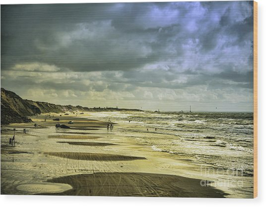 Danish West Coast Beach Wood Print