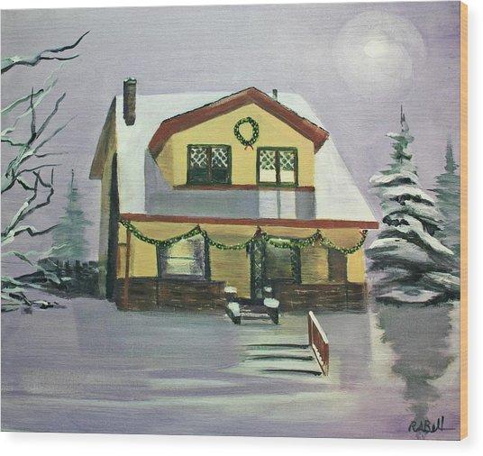 Dan's House Wood Print by Randy Bell
