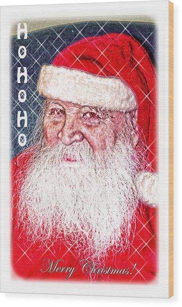 Darius Merry Christmas Wood Print