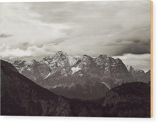 Dark Alps Wood Print