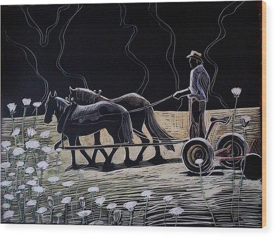 Dark And Light Wood Print