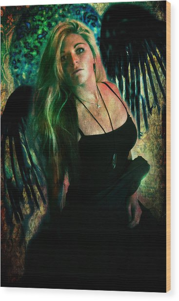 Dark Angel Wood Print
