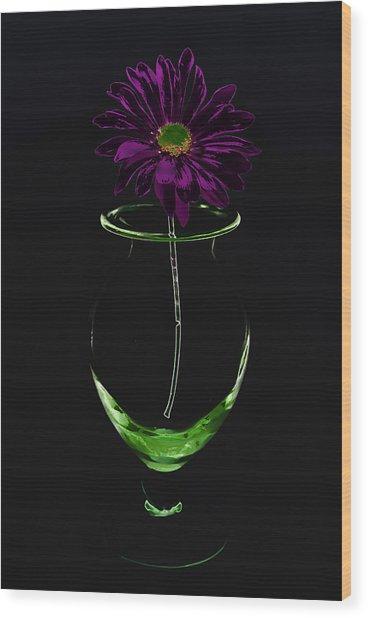 Dark Bloom Wood Print