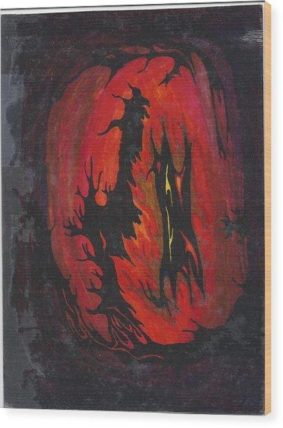 Dark Wood Print by Cim Paddock