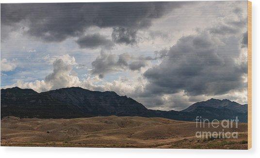 Dark Clouds On The Horizon Wood Print