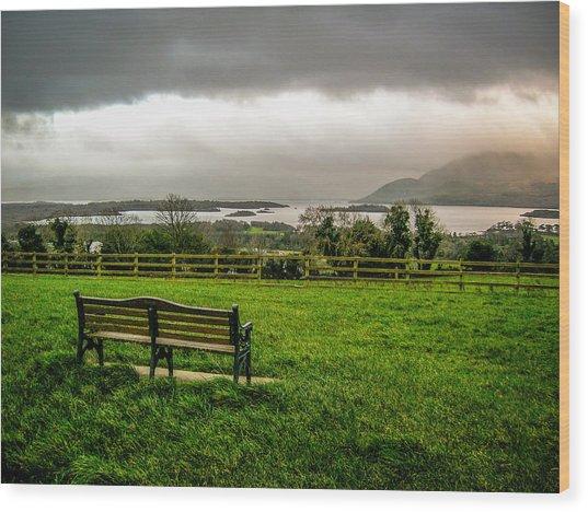 Dark Clouds Over Killarney Lakes Wood Print