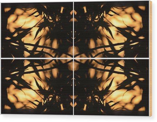 Dark Crossing Wood Print