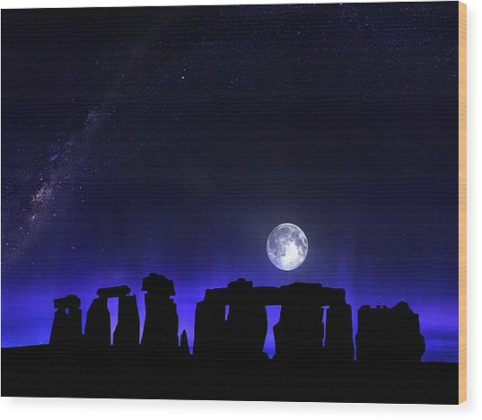 Dark Henge Wood Print