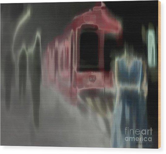 Dark Passengers Wood Print