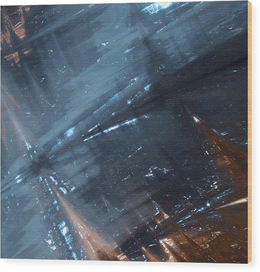 Dark River Wood Print