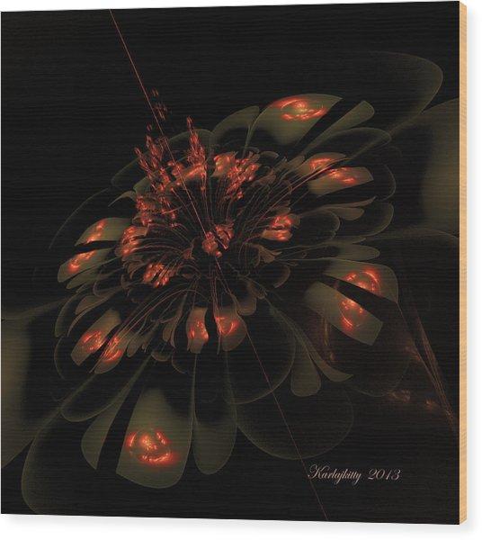 Dark Shimmer Wood Print