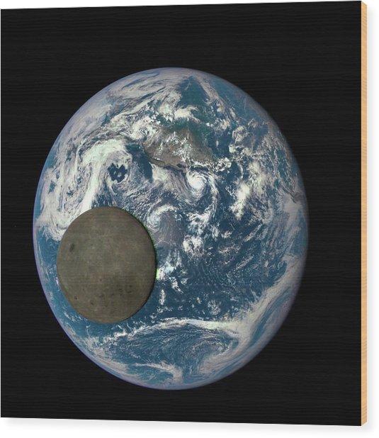 Dark Side Of The Moon Wood Print
