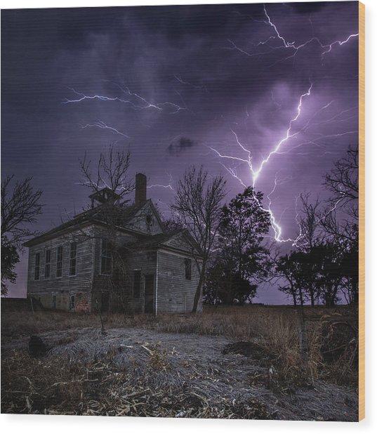 Dark Stormy Place Wood Print