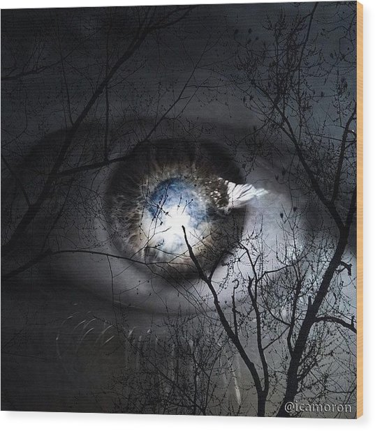 Darkness Falls Across The Land The Wood Print by Cameron Bentley
