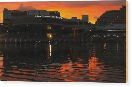 Darling Harbour Evening Wood Print