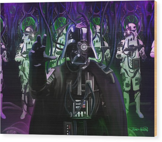 Darth Borg Wood Print