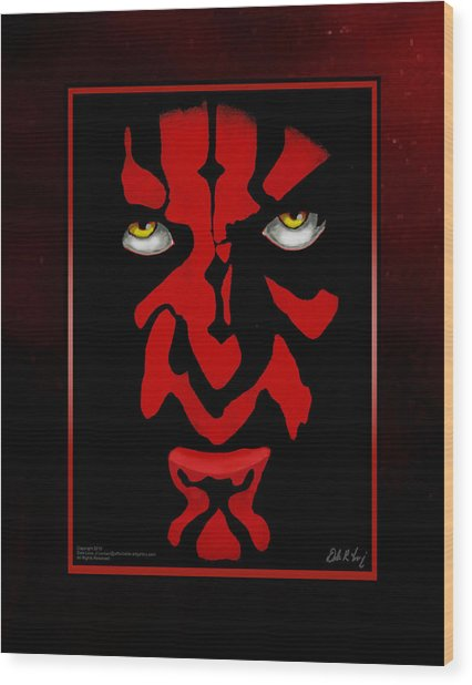Darth Maul Wood Print