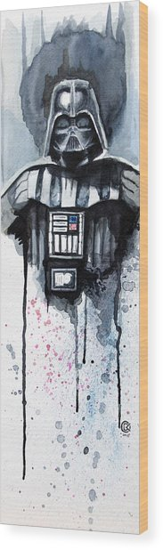 Darth Vader Wood Print by David Kraig