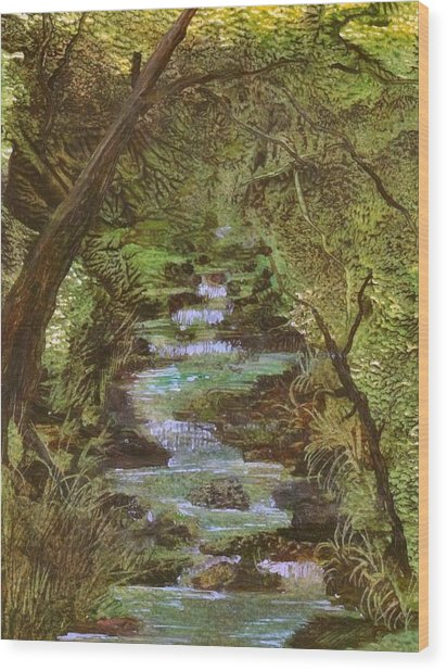 Dartmoor River Wood Print by Carol Rowland