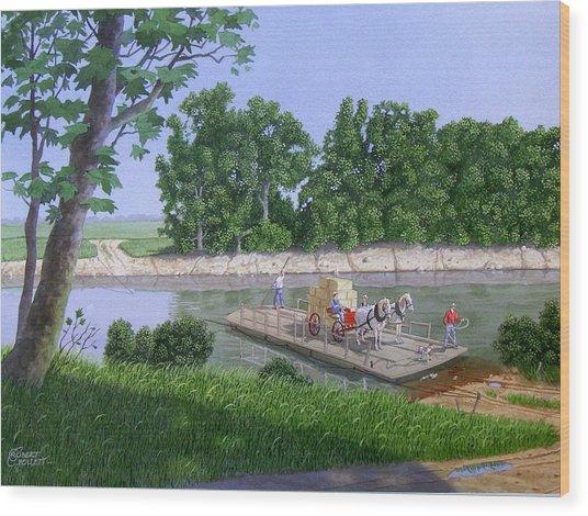 Darwin Ferry Wood Print