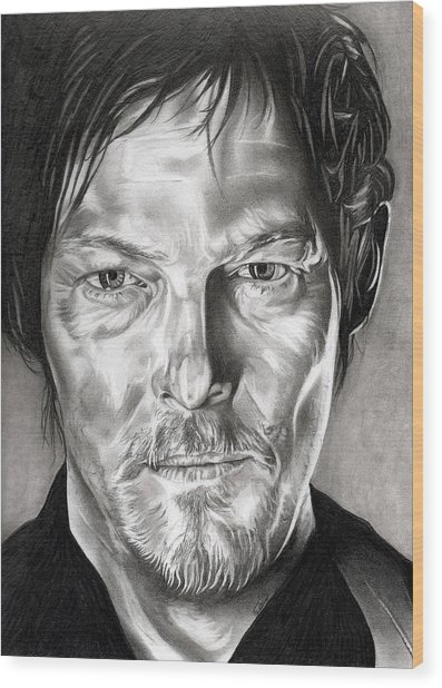 Daryl Dixon - The Walking Dead Wood Print