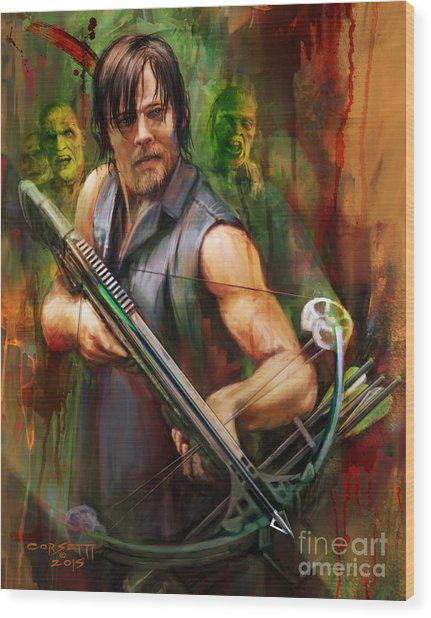 Daryl Dixon Walker Killer Wood Print