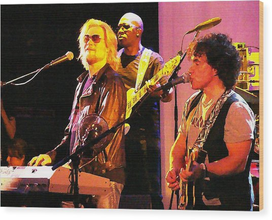 Daryl Hall And Oates In Concert Wood Print