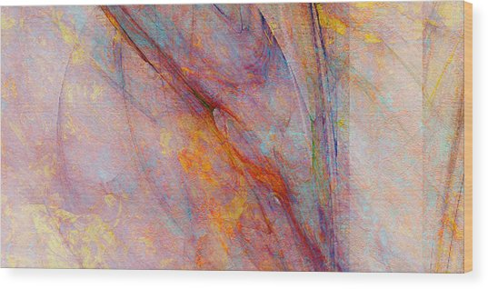Dash Of Spring - Abstract Art Wood Print