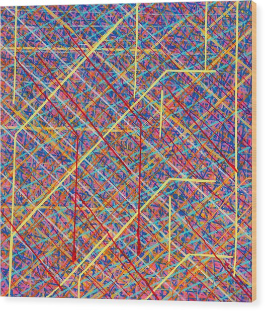 Data Structure Wood Print by Patrick OLeary
